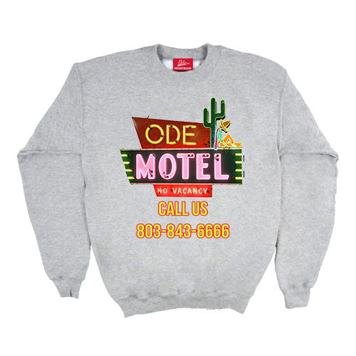The Ode Motel Crewneck-Heather Grey