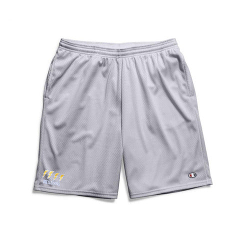 The Ode Lightning Champion Gym Shorts With Pockets- Grey