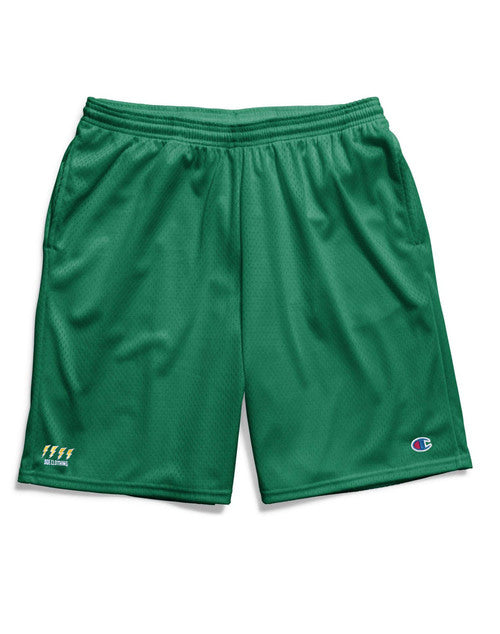 The Ode Lightning Champion Gym Shorts With Pockets- Green