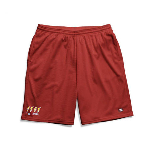 The Ode Lightning Champion Gym Shorts With Pockets- Crimson