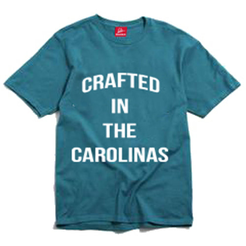 Crafted in The Carolinas Front Logo T-shirt- Teal