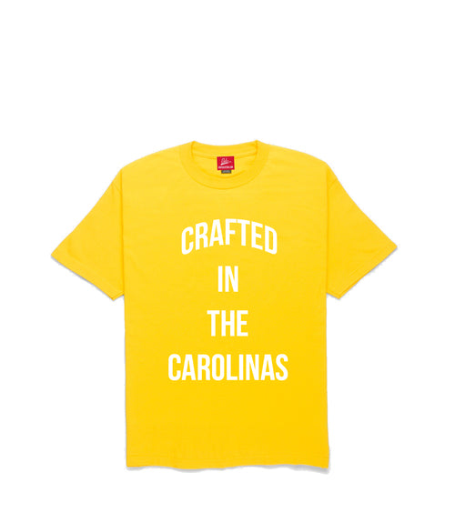 Crafted in The Carolinas Front Logo T-shirt- Yellow