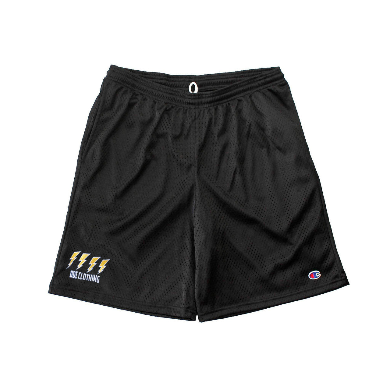 The Ode Lightning Champion Gym Shorts With Pockets- Black