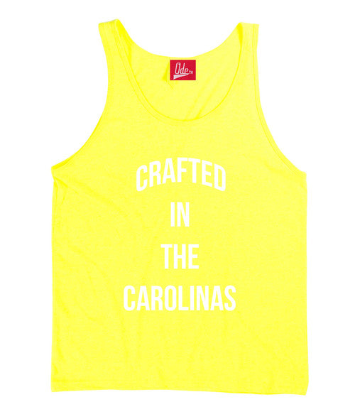 Crafted in the Carolinas Tank- Yellow