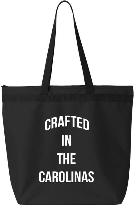 Crafted in the Carolinas Tote Bags- Black