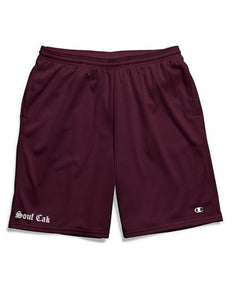 Souf Cak  Champion Gym Shorts With Pockets- Maroon