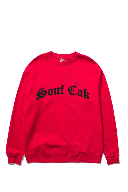 Souf Cak Crewneck Sweatshirt - Red