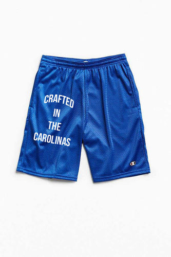 Crafted in the Carolinas Champion Gym Shorts With Pockets- Royal Blue