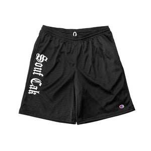 Souf Cak Vertical Champion Gym Shorts With Pockets- Black