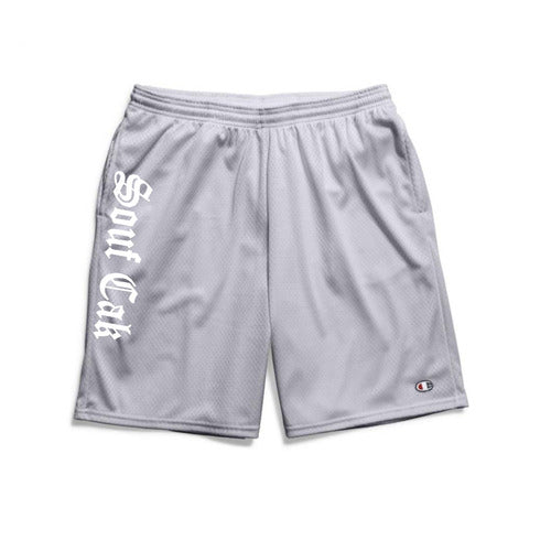 Souf Cak Vertical Champion Gym Shorts With Pockets- Grey