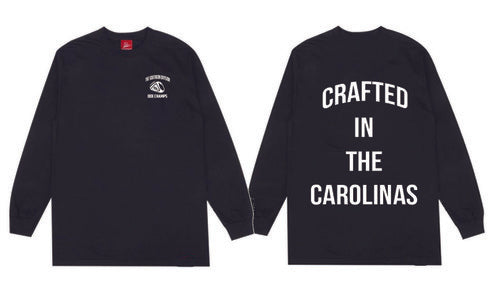 The Crafted In the Carolinas Long Sleeve-Black