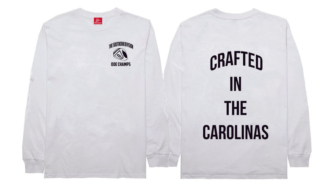The Crafted In the Carolinas Long Sleeve-White