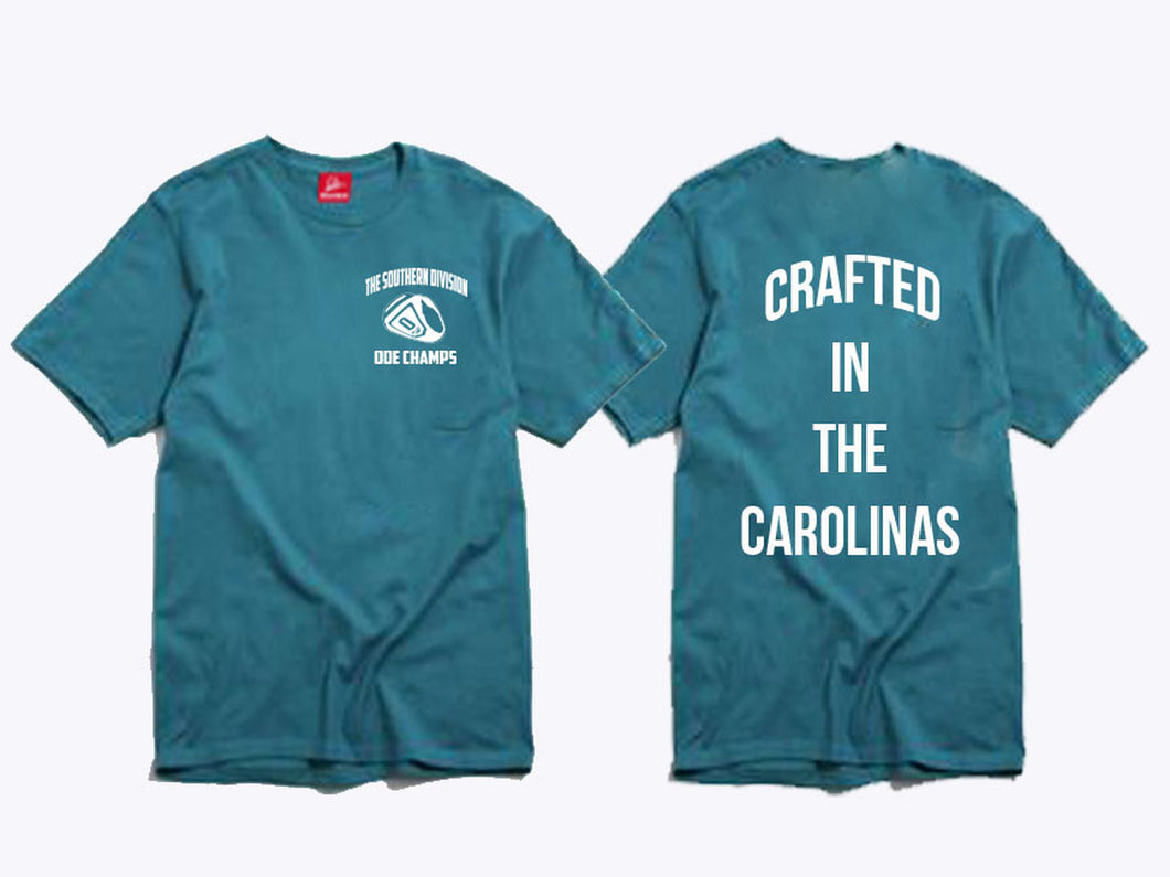 The Crafted In The Carolinas T-Shirt- Teal
