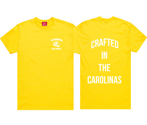 The Crafted In The Carolinas T-Shirt-Yellow