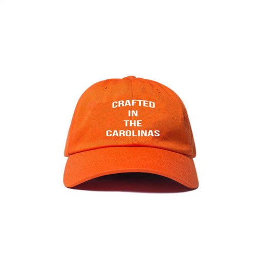 Crafted in the Carolinas Dad Hat- Orange