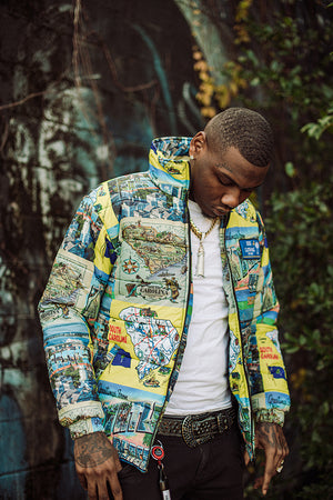 The South Carolina Map Puffer Jacket