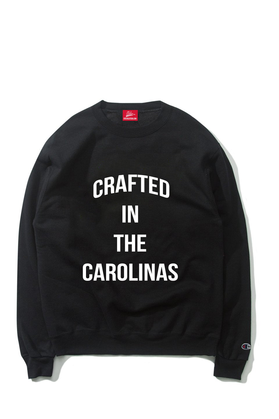 The Crafted In the Carolinas Crewneck X Champion - Black