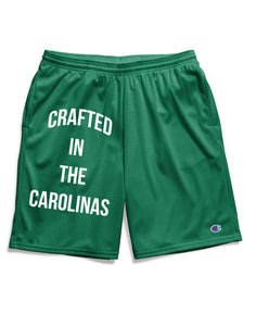 Crafted in the Carolinas Champion Gym Shorts With Pockets- Green