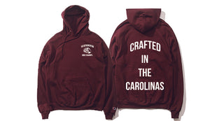 The Crafted In the Carolinas Hoodie X Champion - Garnet/ Maroon