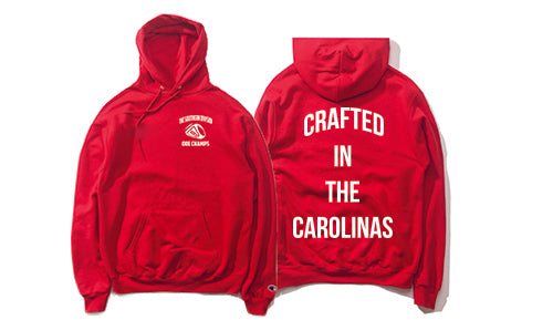 The Crafted In the Carolinas Hoodie X Champion - Red