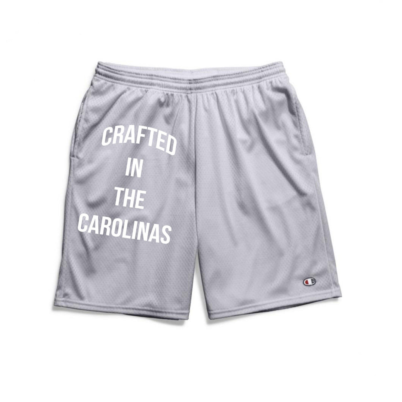Crafted in the Carolinas Champion Gym Shorts With Pockets- Grey