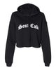 The Souf Cak Cropped Hoodie- Black