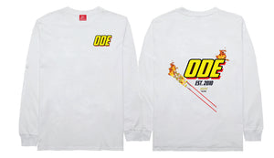 The Firecracker Long Sleeve- White