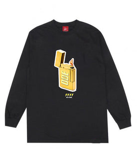 The Ode Gold Lighter Long Sleeve- Black