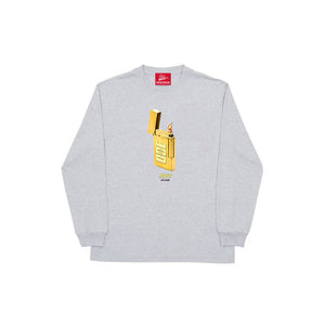 The Ode Gold Lighter Long Sleeve- Grey