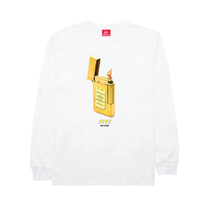 The Ode Gold Lighter Long Sleeve- White