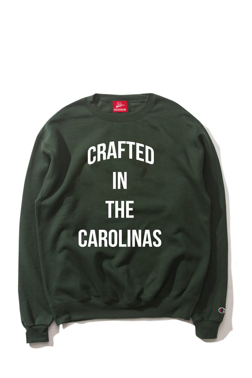 The Crafted In the Carolinas Crewneck X Champion - Green