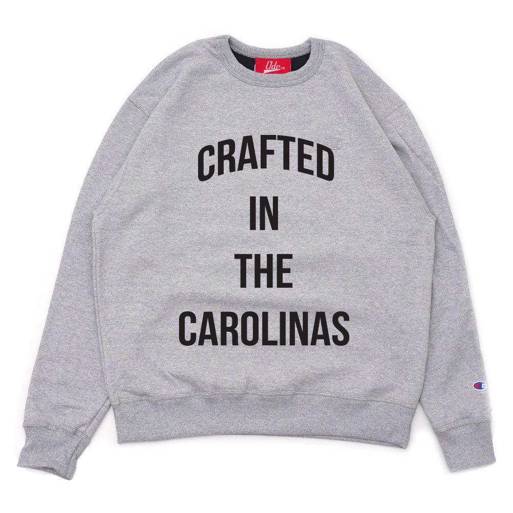 The Crafted In the Carolinas Crewneck X Champion - Grey