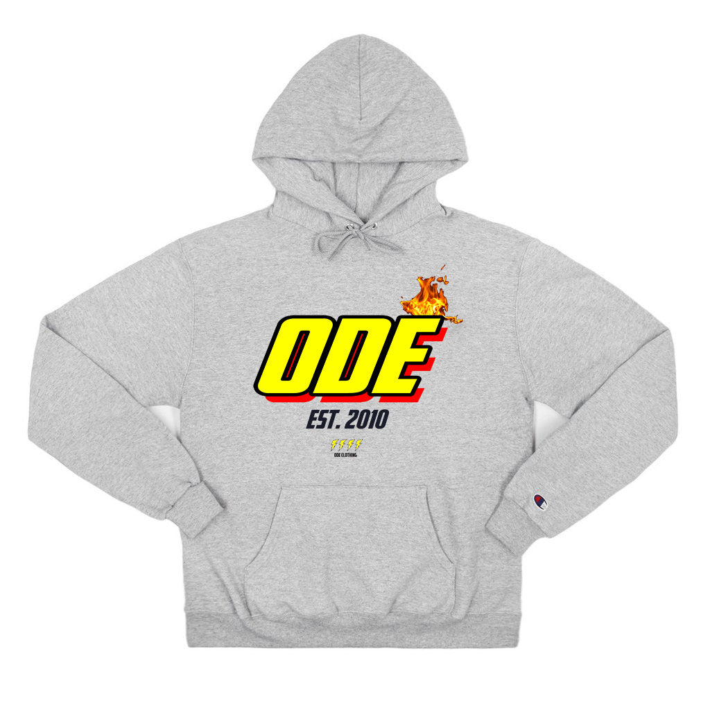 The Ode Flame Hoodie - Grey