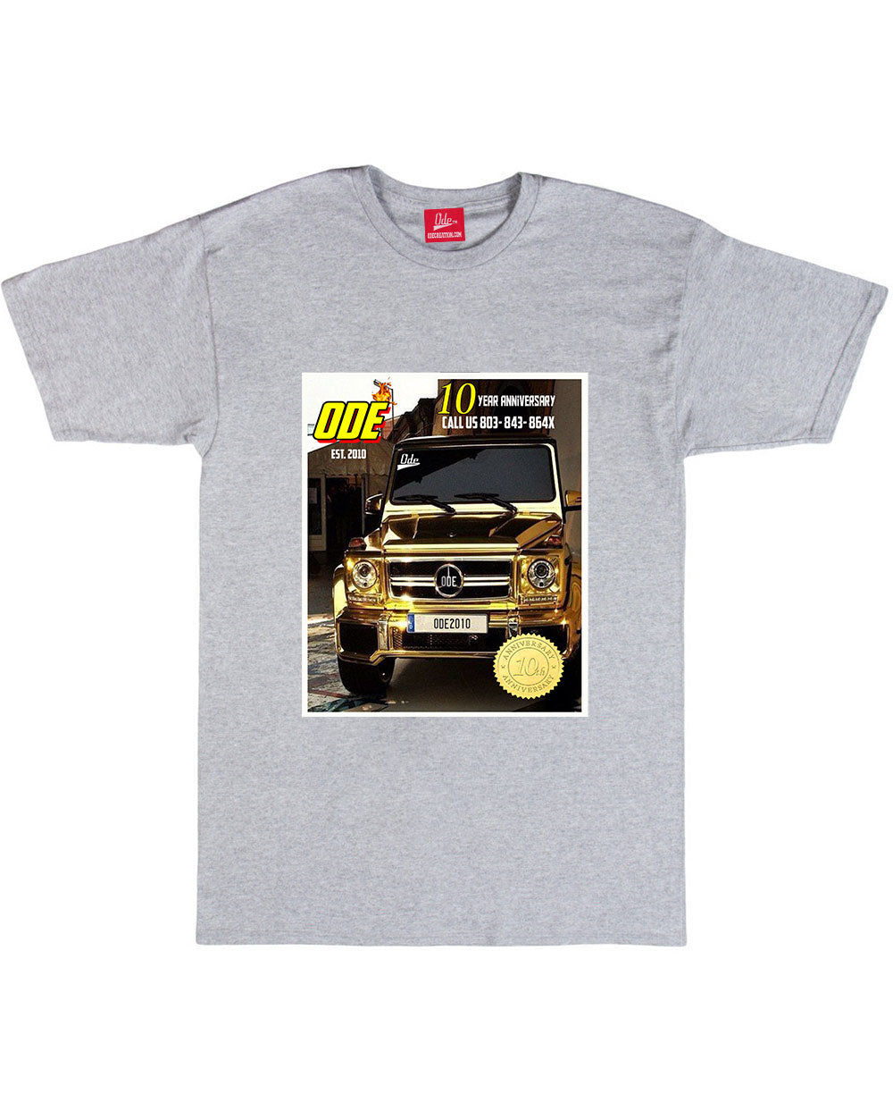 The Ode 10 Year Anniversary G-Wagon Grey T-shirt