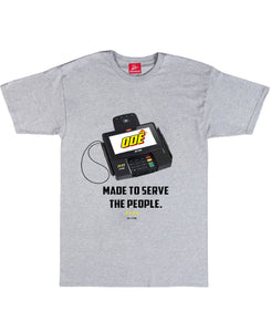 Made To Serve ( Credit Card Reader) T-Shirt Grey
