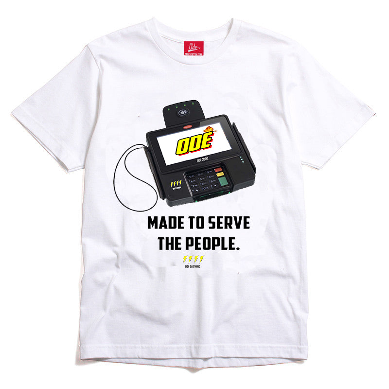 Made To Serve ( Credit Card Reader) T-Shirt White