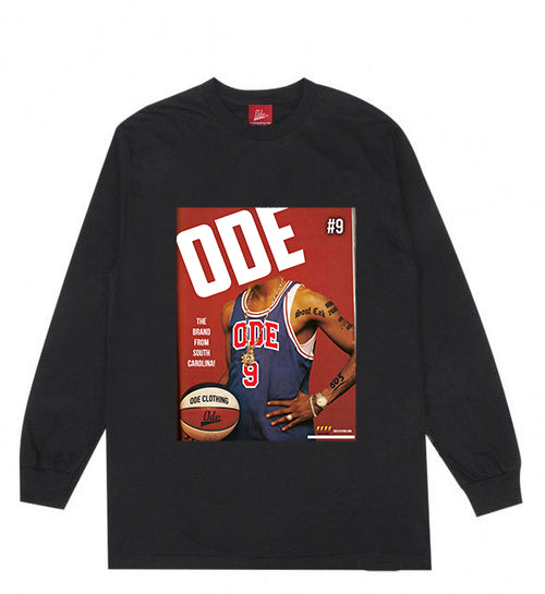 The Ode Brand From South Carolina Long Sleeve T-shirt- Black