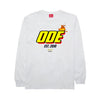 The Ode Flame Long Sleeve Shirt- White