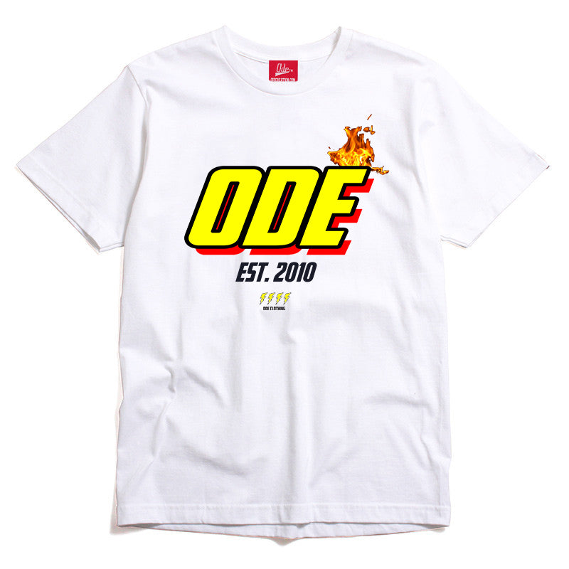 The Ode Flame Shirt- White