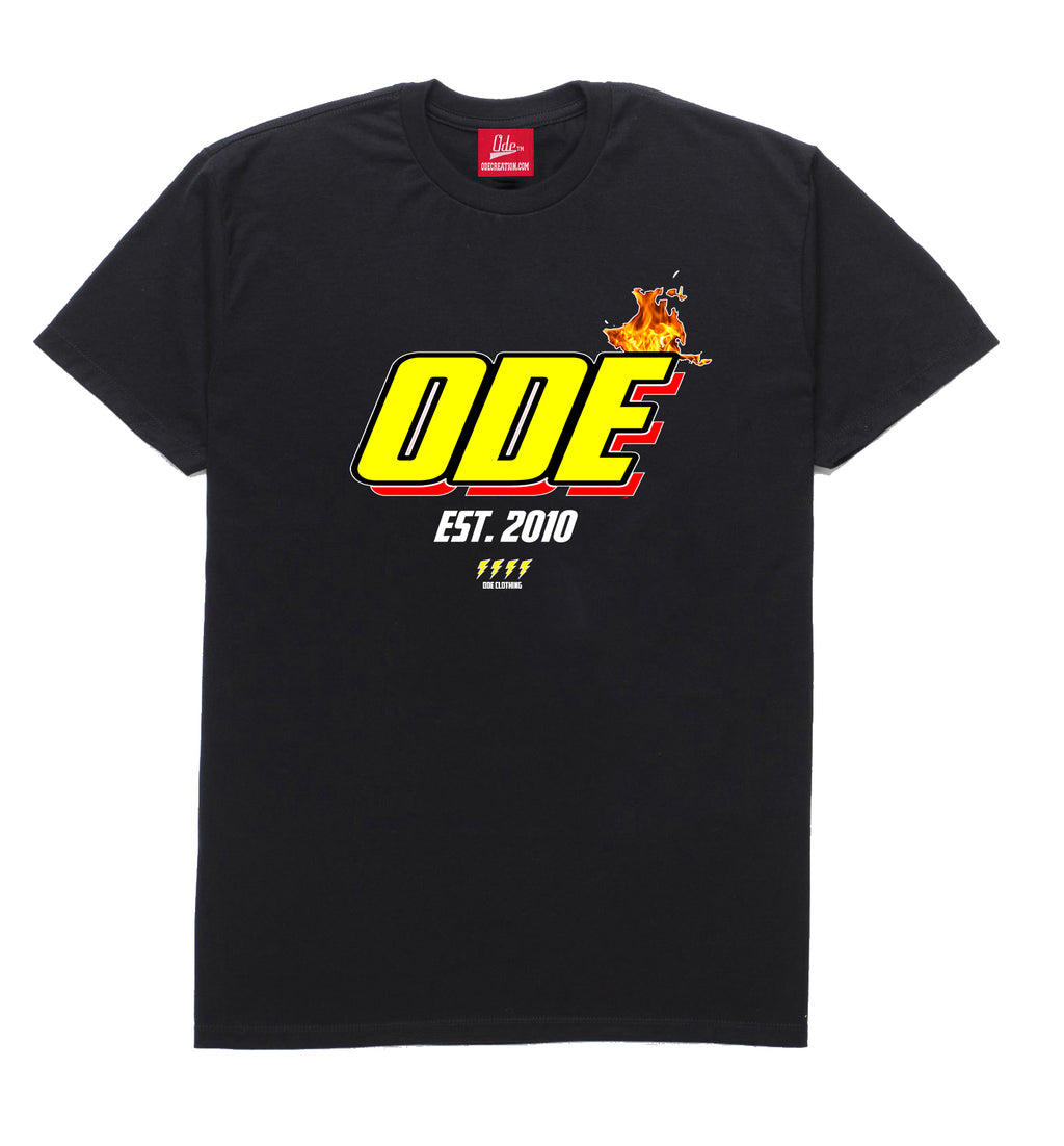 The Ode Flame Shirt- Black