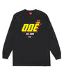 The Ode Flame Long Sleeve Shirt- Black