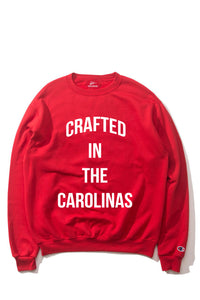 The Crafted In the Carolinas Crewneck X Champion - Red