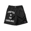 Crafted in the Carolinas Champion Gym Shorts With Pockets- Black
