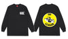 The Ode Ski Lift Signs Long Sleeve- Black