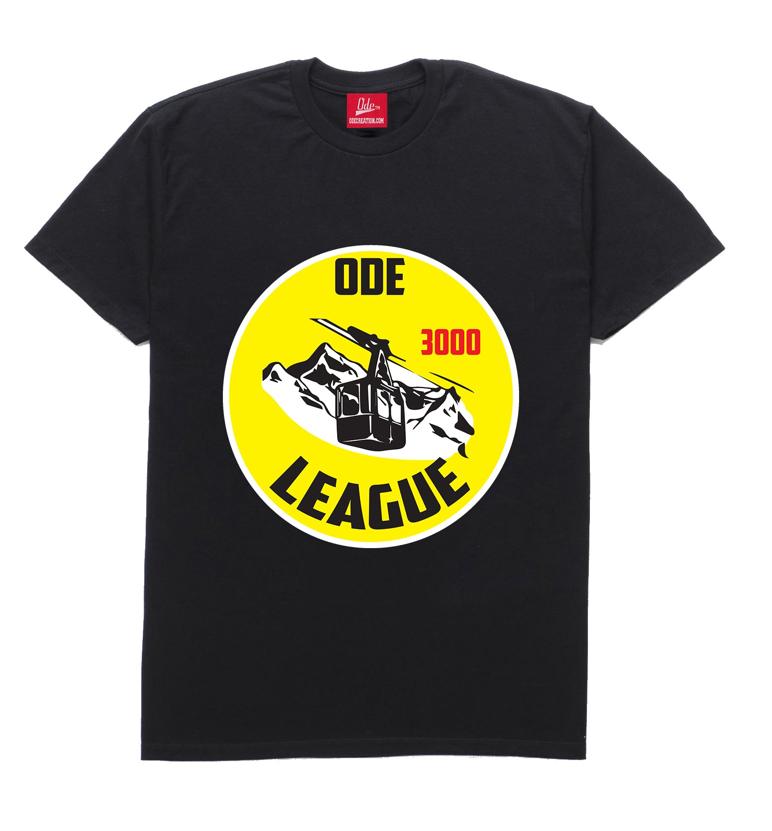 Ode Ski League 3000 T-Shirt Black