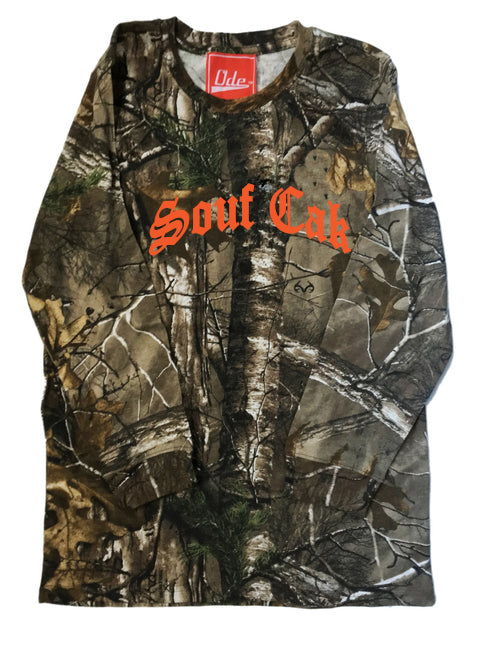The Souf Cak Camo Long Sleeve - Orange Font
