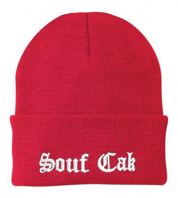 Souf Cak Skully/Beanie - Red