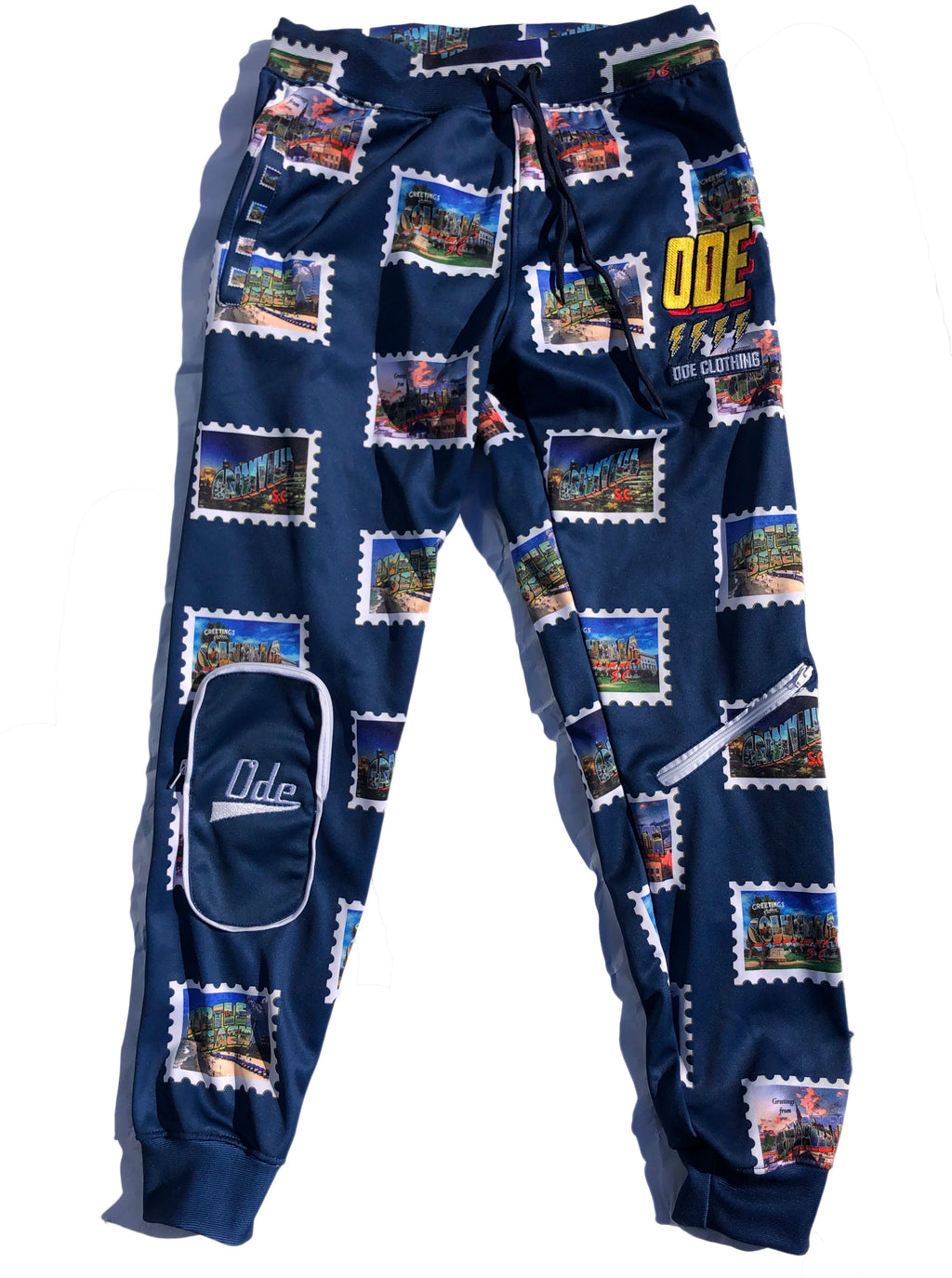 The Ode 10 Year Anniversary South Carolina  Stamp Jogger Pants
