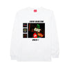 The Ode Neon Signs Long Sleeve- White