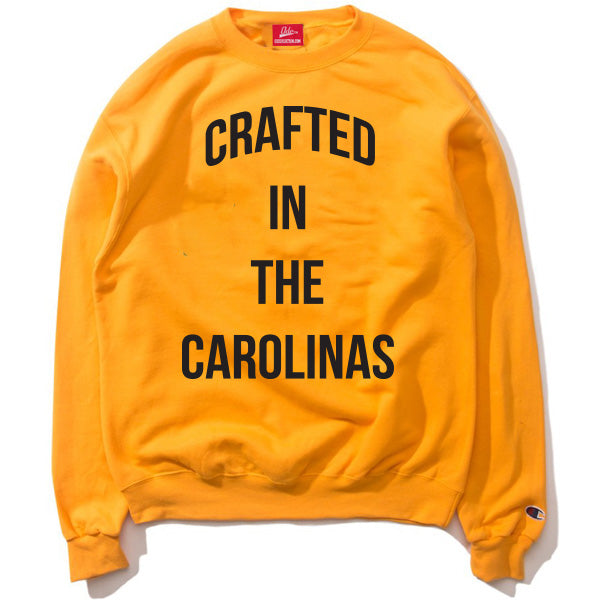 The Crafted In the Carolinas Crewneck X Champion - Gold/Yellow